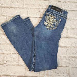 LA Idol Jeans Boot-cut Embellished Jeans size 0